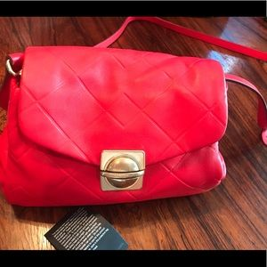Marc by Marc Jacobs red Italian leather handbag